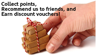 Collect points, recommend us to friends, and earndiscount vouchers!